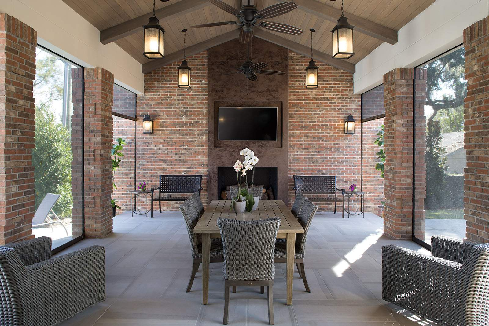 Thin Brick Outdoor Patio
