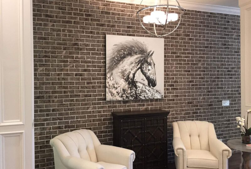 Thin Brick Accent Wall