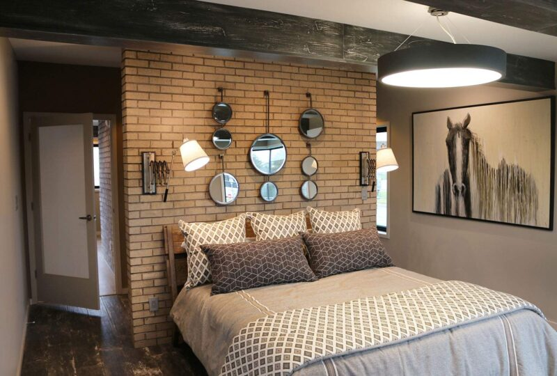 Thin Brick Bedroom